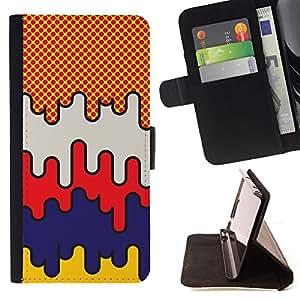 Jordan Colourful Shop - pop art comic raster art pattern city For Apple Iphone 6 PLUS 5.5 - < Leather Case Absorci????n cubierta de la caja de alto impacto > -