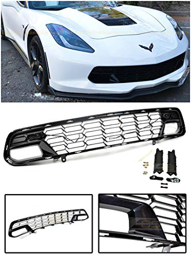 (Extreme Online Store for 2014-Present Chevrolet Corvette C7 Models with Front Camera   EOS Z06 Style Painted Carbon Flash Metallic Front Bumper Lower Grille Cover)