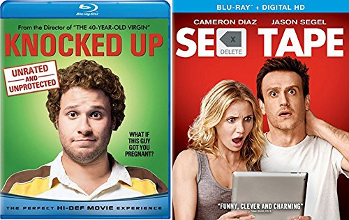 Knocked Up + Sex Tape Comedy Blu Ray Set 2 Movies double feature bundle