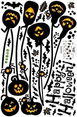 JMcall® Halloween Wall Stickers Horror Door Stickers Window