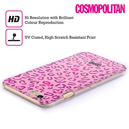 Official Cosmopolitan Violet And Pink Sassy Leopard Hard Back Case for Apple iPhone 6 Plus / 6s Plus