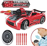 Smart Voice Watch Remote Control Car, Best Birthday Gifts for Boys Age 4+, 2.4GHz RC Stunt Car for Kids, Elect