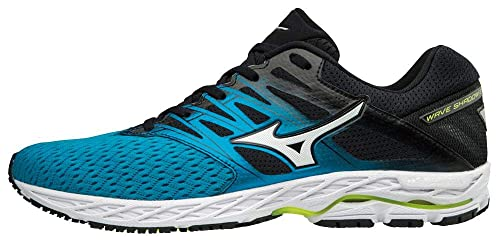 Mizuno Wave Shadow 2, Zapatillas para Hombre, (Bluejewel/Silver/Yellow 001