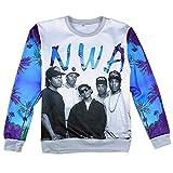 Unisex Harajuku Sweaters Print N.W.A Team Pullover Hoodies Hip Hop Sweatshirts (M)