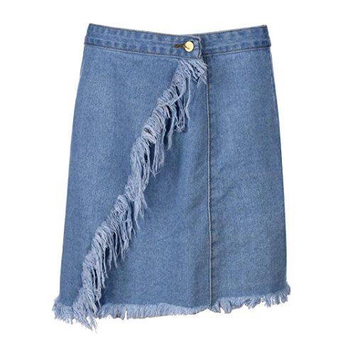 Haute Boy Taille Sexy Cow Denim Bleu Courtes ESAILQ Bleu Poches Mini d't Femmes UAq6T