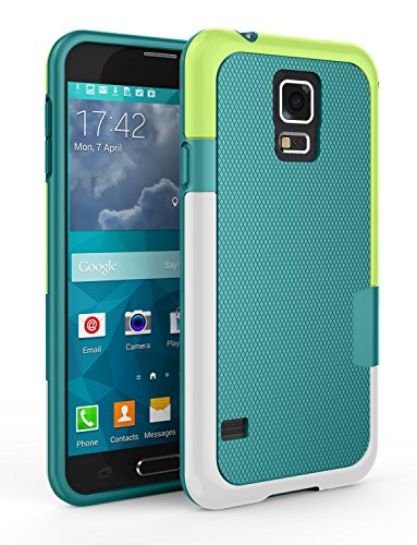 Shockproof Hybrid TPU Case for Samsung Galaxy S5 (Black/Gold) - 6