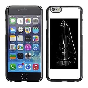 TopCaseStore / la caja del caucho duro de la cubierta de protección de la piel - Music Black Violin - Apple iPhone 6 Plus 5.5