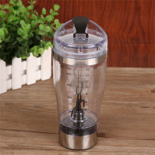 New Electric Shaker Blender Vortex tornado 450ML Detachable Stainless Steel and Acrylic Smart Mixer Cup QW