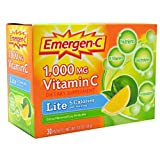 Emergen C Lite Health and Energy Booster Fizzy Drink Mix, 1000 Mg - 30 packet per pack -- 3 packs per case.