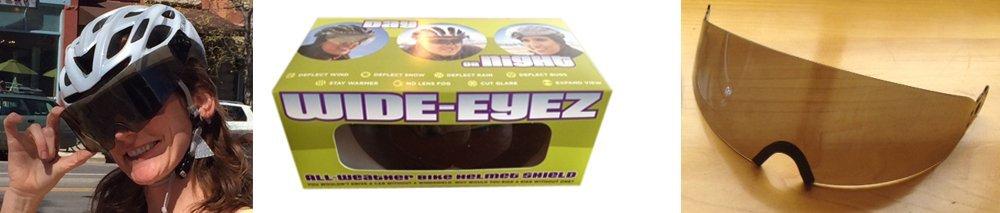 WideEyez Sport Solar Bronze (Small Cycling Face Shield) All-Weather Bike Helmet Visor Attachment