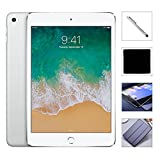 Apple iPad Mini 4 128GB W/$49.99 Value Accessories, 7.9' Retina Display, 2GB RAM, Dual-Core A8 Chip, Quad-Core Graphics, Wi-Fi, MIMO, Bluetooth, Apple iOS 9 (Silver)