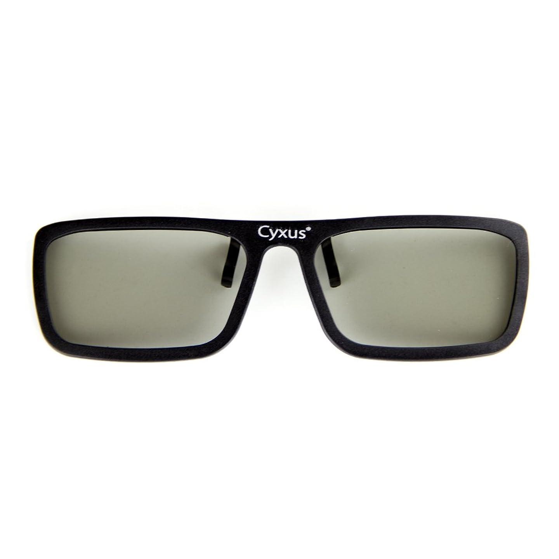 りんご最初にレコーダーCyxus(シクサズ) 3Dメガネ クリップ式 簡単着脱 偏光レンズ 快適 3D映画 3Dテレビに適用 (IMAX 種類)