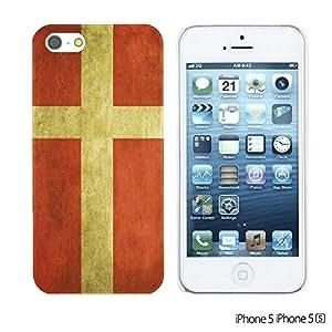 OnlineBestDigitalTM - Flag Pattern Hard Back Case for Apple iPhone 5S / Apple iPhone 5 - Denmark