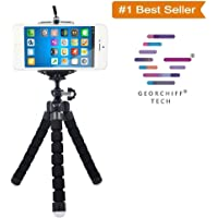 Jhapat Flexible Gorilla Octopus Mini Tripod Light Weight & Slim Yet Sturdy for Smartphones Upto 6 inch Screen with Universal Mobile Holder [ Random Color ] [ 7 inch ]
