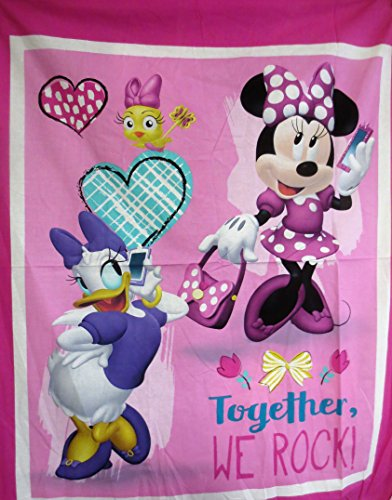 Together We Rock Mickey and Minnie Cotton Fabric Panel 36 X 44 Inches