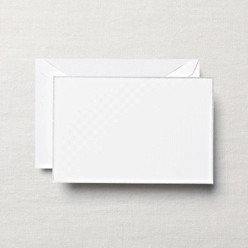 Crane & Co Correspondence Envelopes (Crane & Co. Platinum Bordered White Correspondence Card (CC3309))