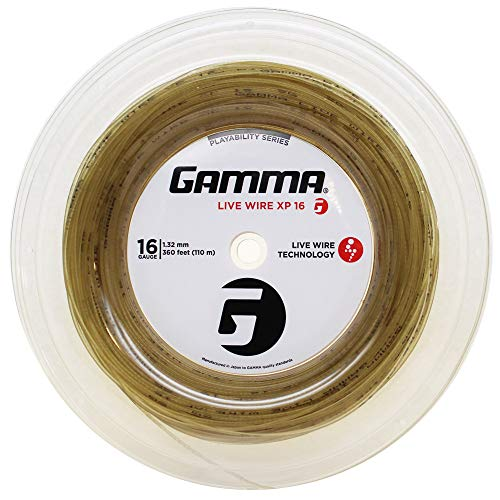 Gamma Sports Live Wire XP Tennis String, Natural, 16g/360'