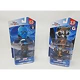 2 Item Bundle: 1 Disney Infinity Marvel Super Heros Yondu figure and 1 Disney Marvel Super Heroes Rocket Raccoon