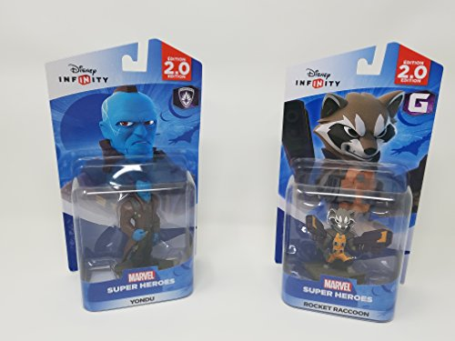 Boba Fett Gauntlets (2 Item Bundle: 1 Disney Infinity Marvel Super Heros Yondu figure and 1 Disney Marvel Super Heroes Rocket Raccoon)