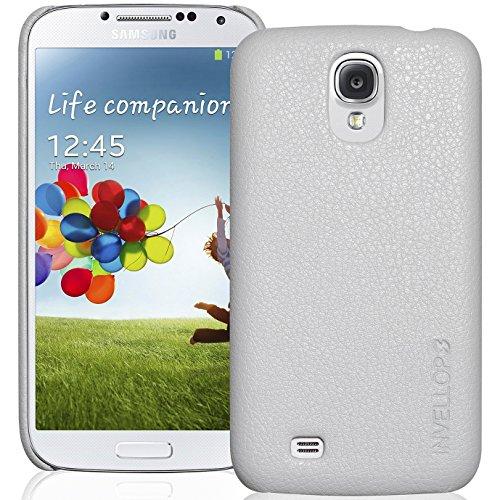Galaxy S4 Case, INVELLOP White Leatherette case cover for Samsung Galaxy S4 SIV i9509