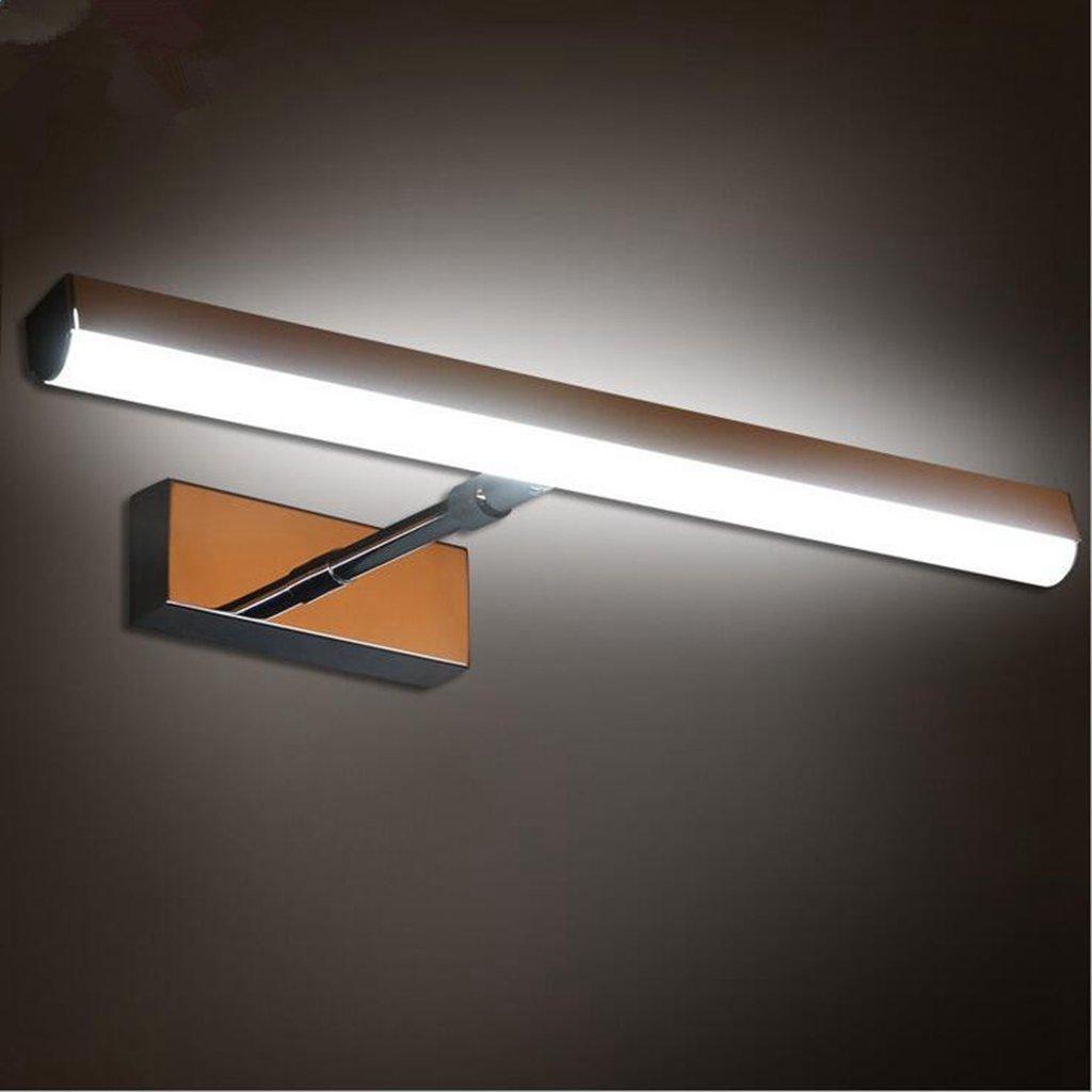 San Tai@LED Spiegelleuchte,Schranklampe Badlampe,Badleuchte Wandleuchte,Wand Spiegellampe,Beleuchtung mit Schalter,E27 E14,Leuchtmittel Typ LED Lichter,Material Edelstahl,Größe 60cm