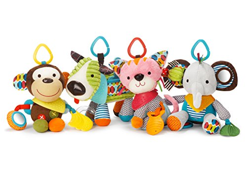 51Kft2kj4JL - Bandana Buddies Baby Activity and Teething Toy with Multi-Sensory Rattle and Textures, Fox