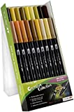 Tombow Dual Brushpens 18 Colour   Set (Earth)