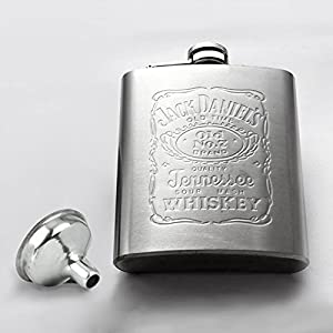 Stainless Steel Hip Liquor Whiskey Alcohol Pocket Flask with Portable Funnel