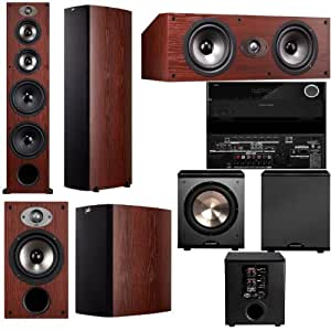 Polk Audio TSX550T 5.1 Home Theater System (Cherry)-Pioneer VSX-1123-K 7.2
