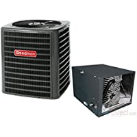 GOODMAN AIR CONDITIONER 3.5 TON 14 SEER SYSTEM HORIZONTAL 24.5 CASED COIL - GSX140421 / CHPF4860D6