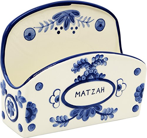 - Passover Ceramic Matzah Holder Blue & White Delft Design