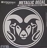 Colorado State Rams 6'' Medium Silver Metallic Vinyl Auto Decal University of