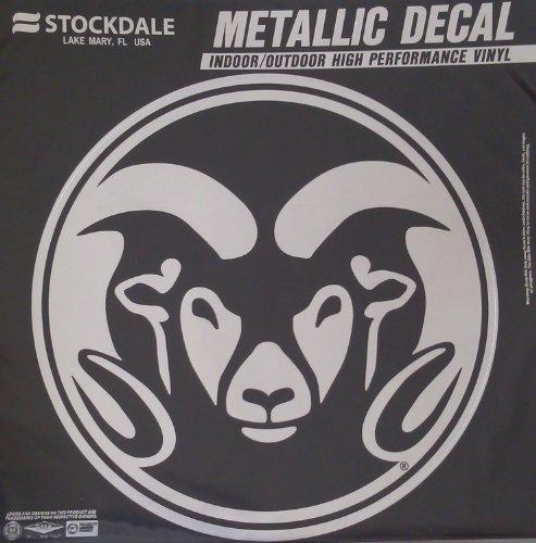 Colorado State Rams 6'' Medium Silver Metallic Vinyl Auto Decal University of by ProMark