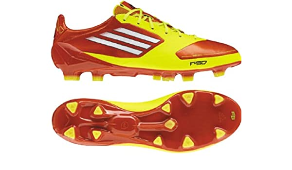 super popular 284bb 92f58 Amazon.com   adidas F50 Adizero TRX FG Junior, Orange Yellow   Soccer
