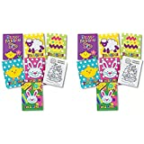 72 pc Easter fun and games mini activity coloring books - Bulk Class / group Pack - easter toys and novelties