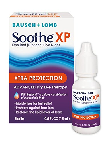 Bausch + Lomb Soothe XP Dry Eye Drops, Xtra Protection Lubricant Eye Drop with Restoryl Mineral Oils, 0.50oz ()