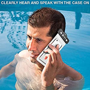 Voxkin PREMIUM QUALITY Universal Waterproof Case including ARMBAND ✚ COMPASS ✚ LANYARD - Best Water Proof, Dustproof, Snowproof Bag for iPhone 6S, 6, 6 Plus, 5, Galaxy S6 S5 Note 4 or Any Phone