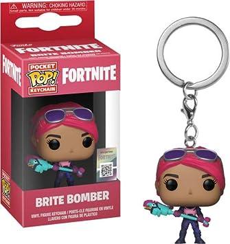 Funko- Pocket Pop Fortnite Llavero de Vinilo con Anilla Brite Bomber, (36969)