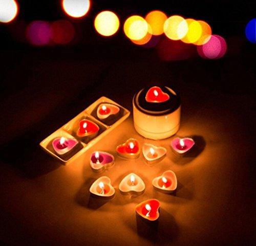 LiPing 50Pcs Romantic Love Wedding Party Novelty Candles -Creative Ocean Swe (Blue)