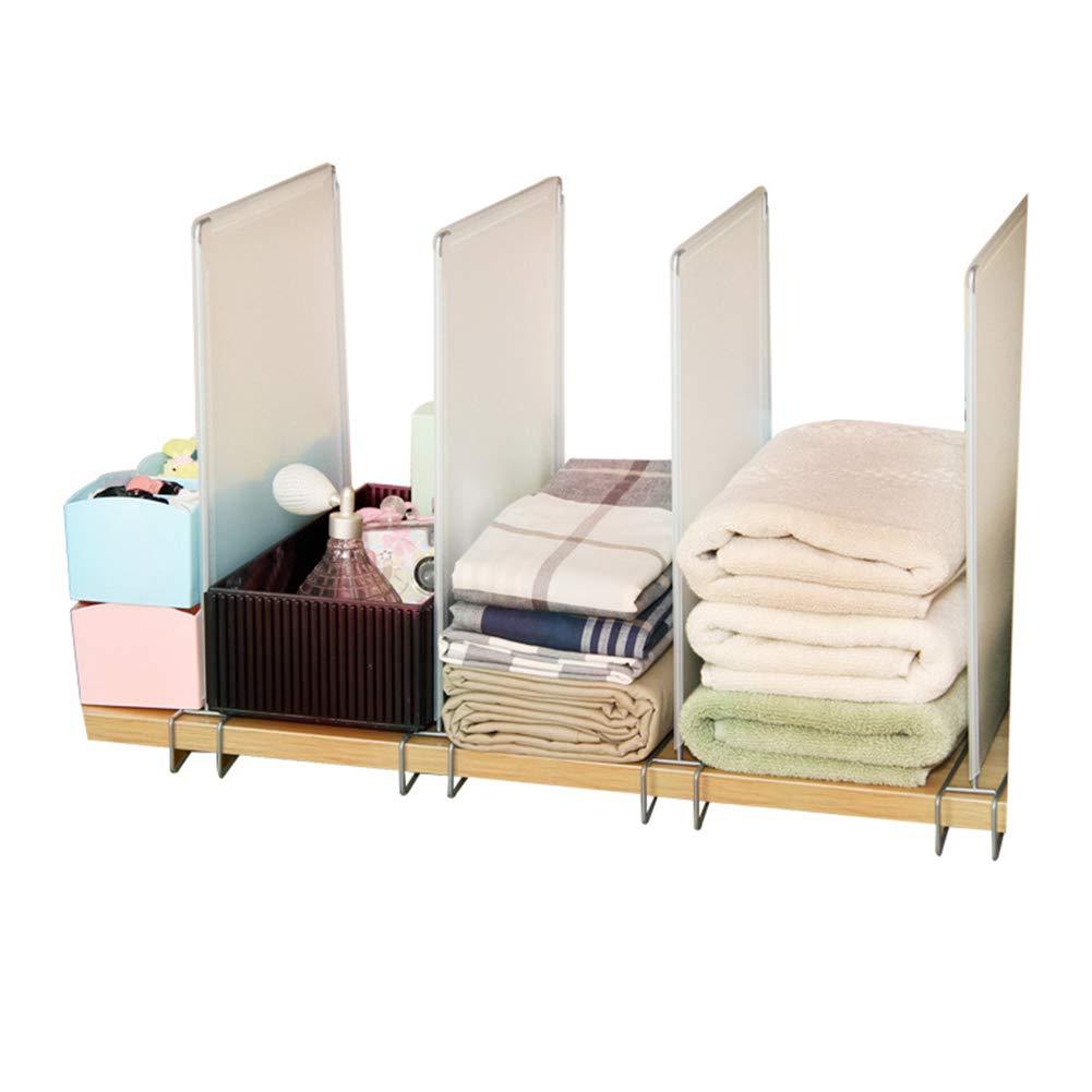 4pcs//Set Show Cuarto de ba/ño ROKF Organizador de Armario y Separador de estantes para Dormitorio