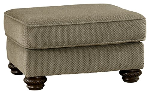 Ashley Furniture Signature Design - Martinsburg Ottoman - Traditional Style - Rectangular - Meadow with Brown Base