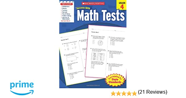 Counting Number worksheets maths worksheets for grade 4 : Scholastic Success with Math Tests, Grade 4 (Scholastic Success ...