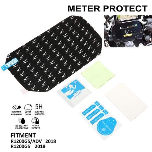 YSMOTO Film de Protection d/écran Anti-Rayures pour Compteur de Vitesse et Tableau de Bord pour BMW R1200GS ADV 2018
