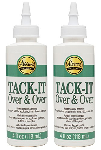 (Aleene's Tack-It Over & Over 4oz (2-Pack) - with how-to guide (copyrighted)