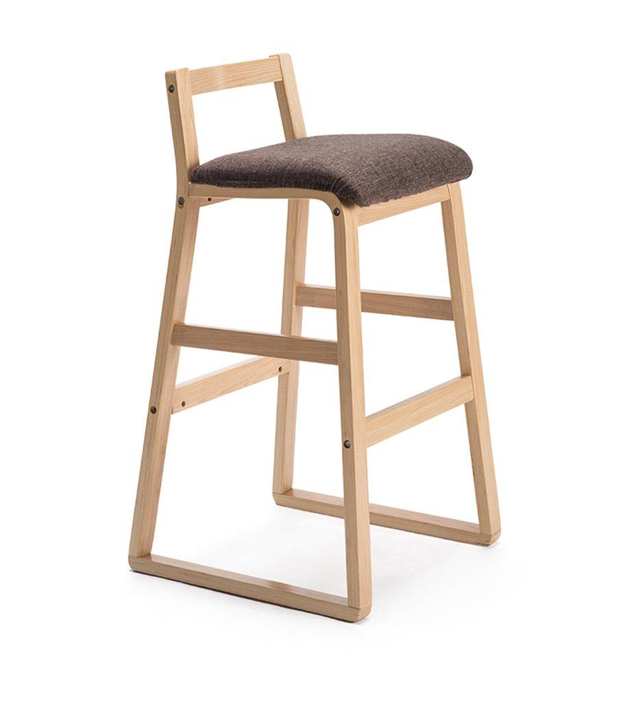 椅子、ソリッドウッドバーチェアハイスツールレトロバースツールバースツールバーチェア ( 色 : True color , サイズ さいず : 49*49*90cm ) B076HGF5FD