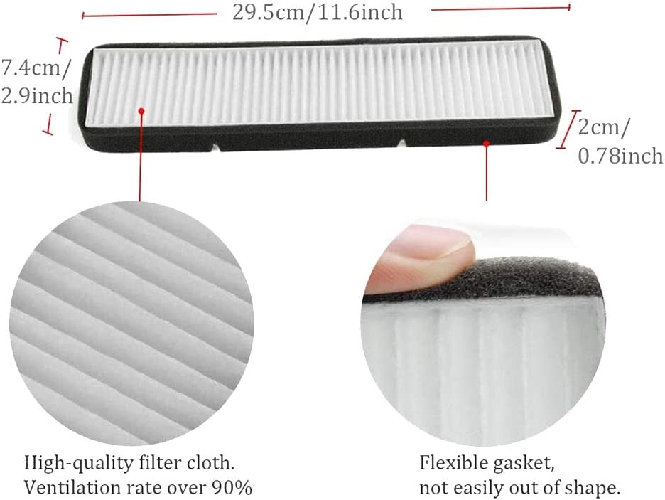 Monland Car Air Conditioner Inlet-Filter for Tesla Model 3