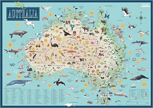 Buy Map Of Australia.Buy Australia Illustrated Map Book Online At Low Prices In India
