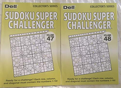 Lot of (2) Dell Selected Puzzles Sudoku Super Challenger Volumes 47 & 48 Special Collection