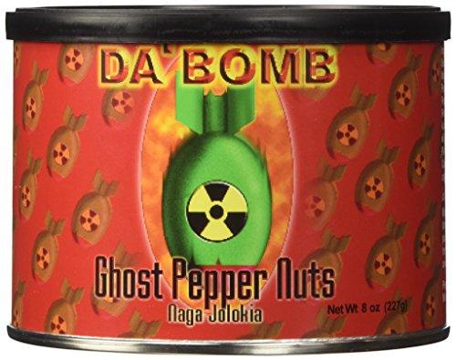 Hot Sauce Depot 60228000 Da Bomb Ghost Pepper Nuts, 8oz - Pack of (Da Bomb Hot Sauce)