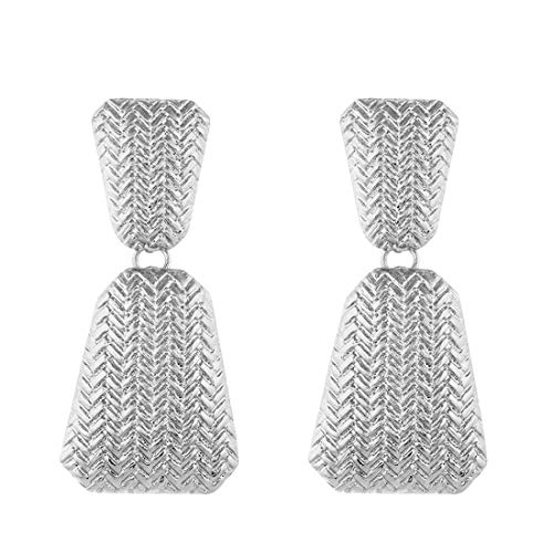 (Golden/Silver Raised Design Statement Earrings)